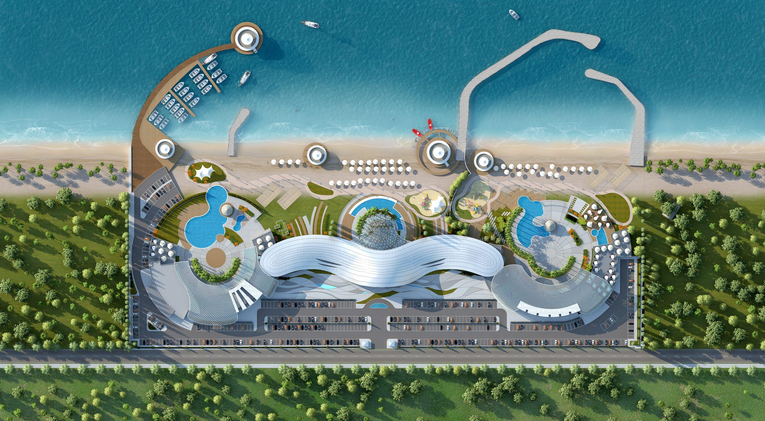 Namak_Abrud Beach Club Interior Design, Modelling & Virtual Reality - Arsan Sarmayeh is a leading Bim company in providing Bim building information modeling and VR virtual reality services - as well as BIM building information modeling projects and VR virtual reality projects -