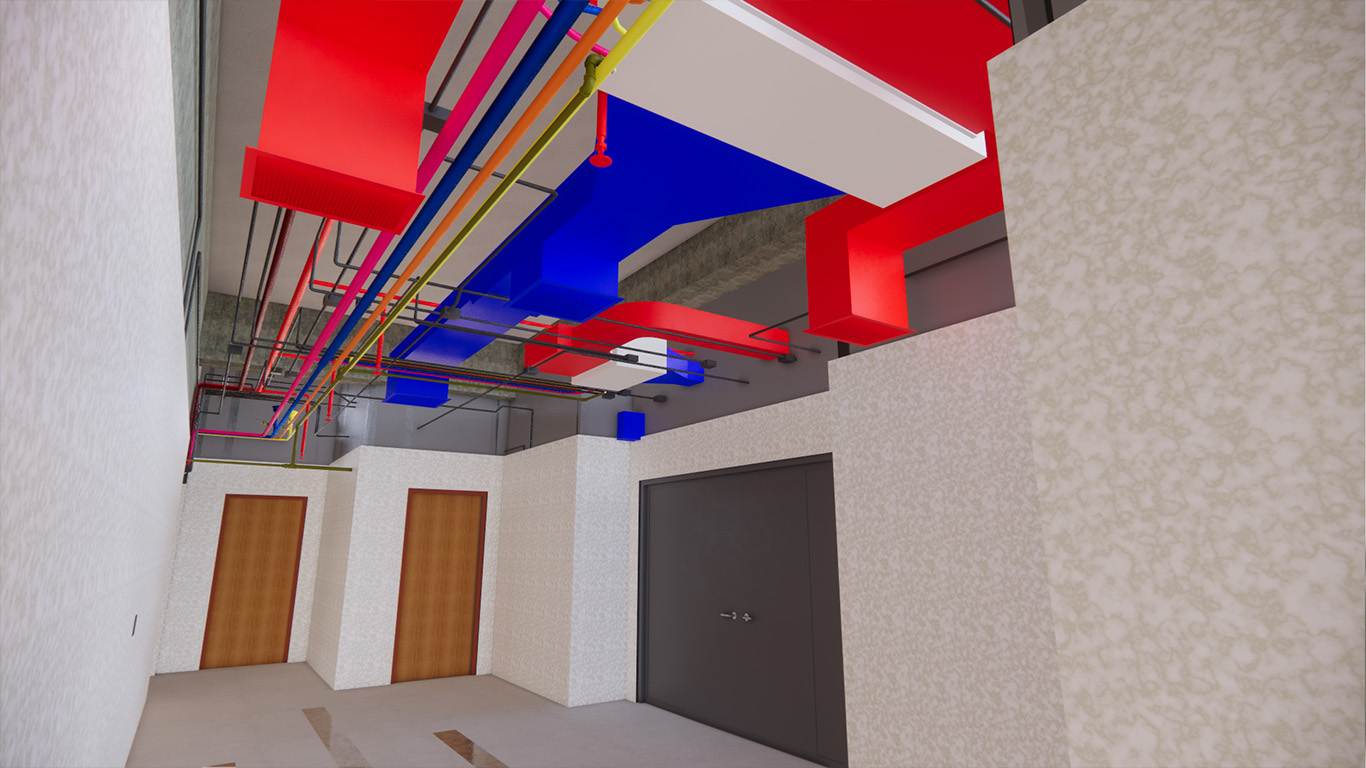 Modeling of building information and virtual reality of Golestan commercial office complex